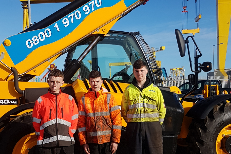 3 apprentices and jcb