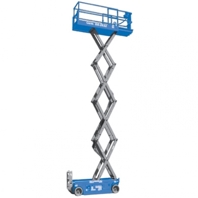9.9m Narrow Electric Scissor Lift Hire