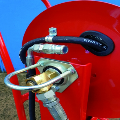 Power hose extension reel