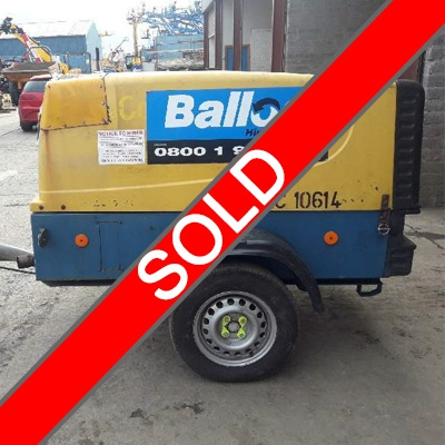 SOLD  COMPAIR 125CFM ROAD COMPRESSOR