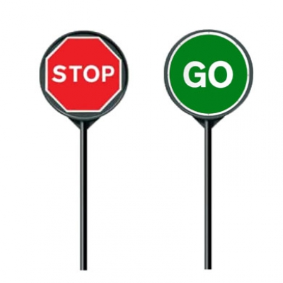 Manual Stop/Go Boards Hire