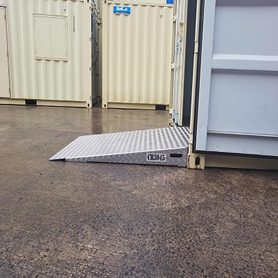 Ramp for container