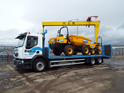 Delivery and Collection at Balloo Hire
