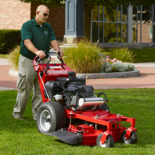 A powerful lawnmower, makes light work of any lawn